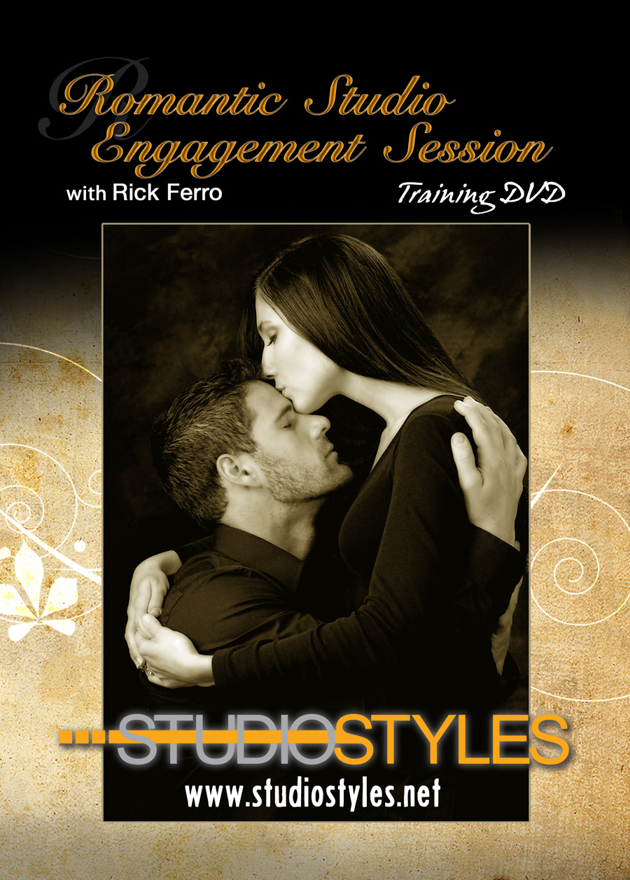Romantic Studio Engagement Session DVD Cover