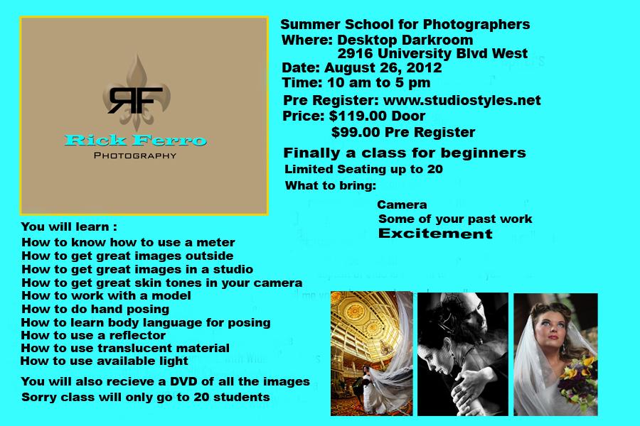 Rick Ferro - Photography Summer School