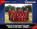 Softball Sponsor/Coach Plaque
